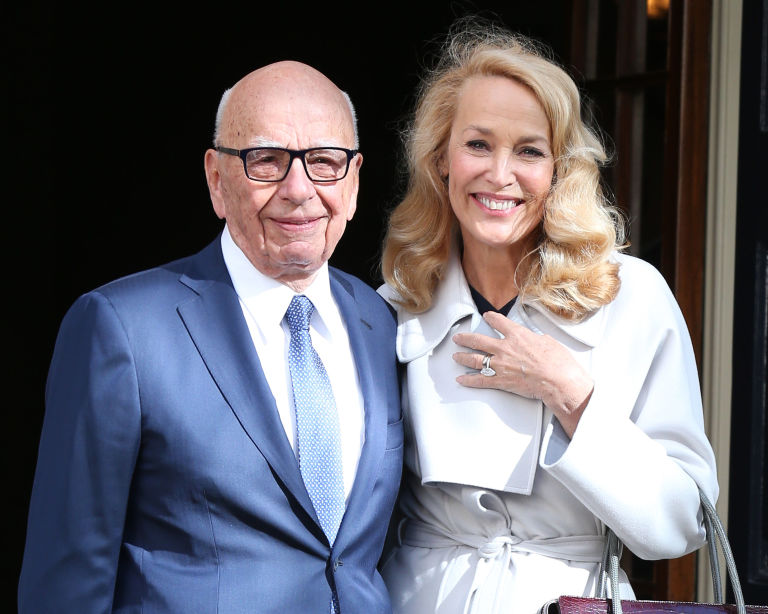 Rupert Murdoch, Jerry Hall wedding