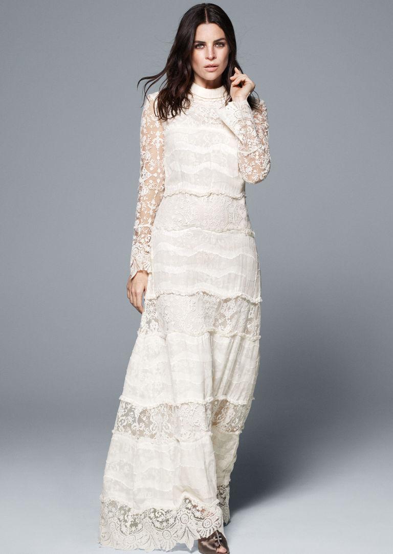 H m white dress no person