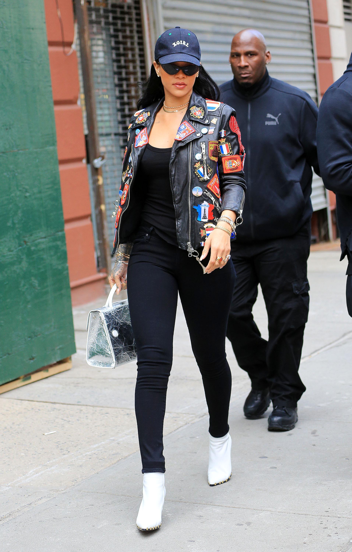 Rihanna Wears Silk Sweats In Nyc Rihanna Fashion And