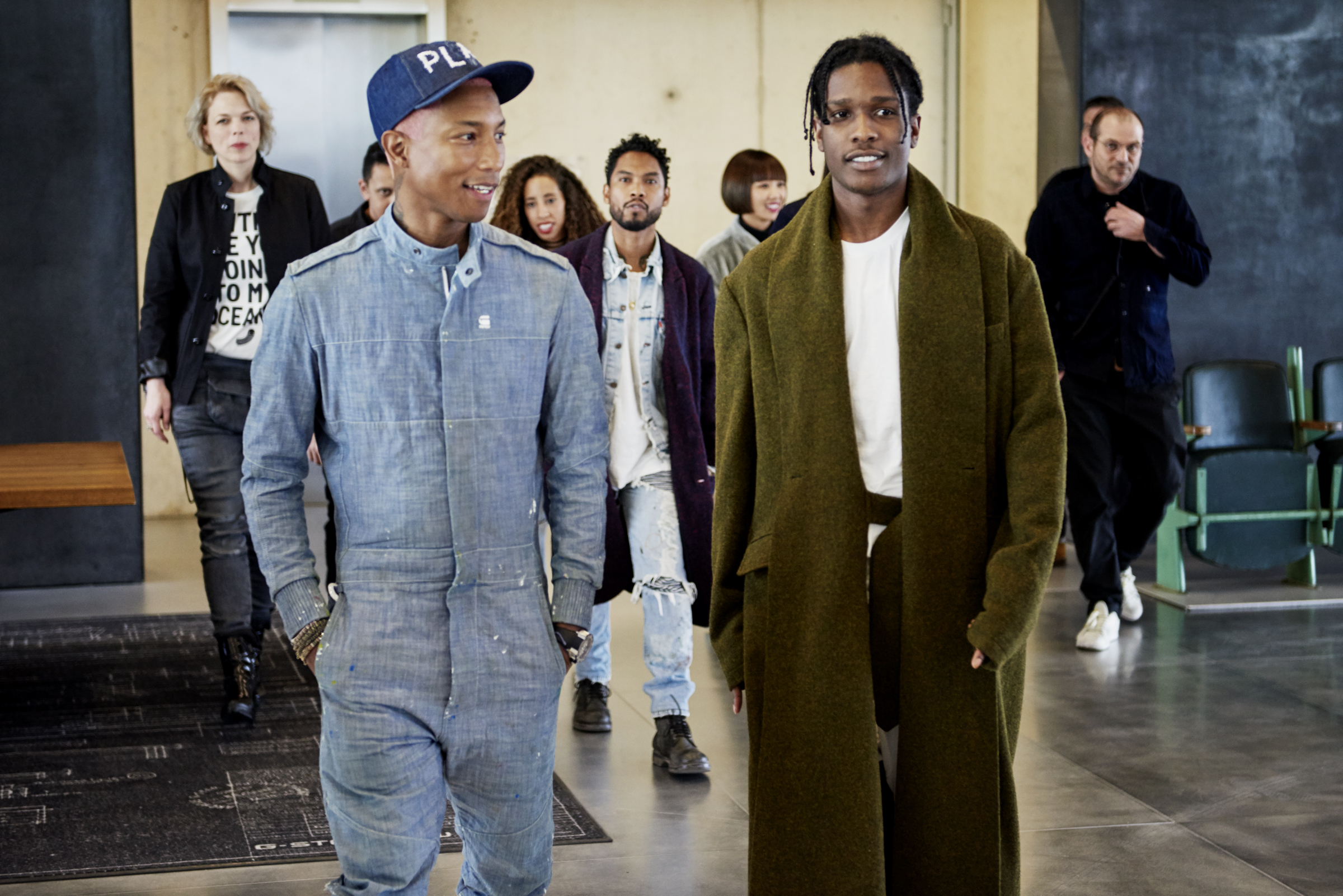 pharrell and g star raw denim 3 hours in amsterdam with pharrell. Black Bedroom Furniture Sets. Home Design Ideas