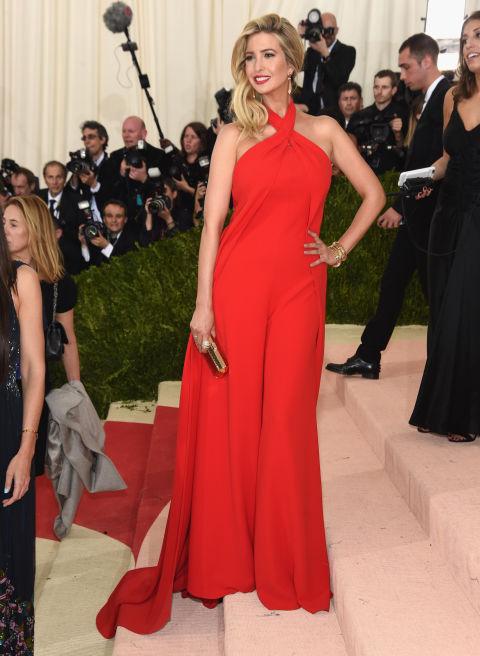 In Ralph Lauren and Ivanka Trump jewelry and bag.