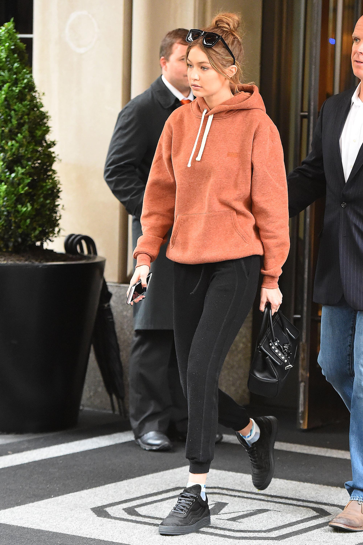 2017 fashion mens trends - Gigi Hadid In Rihanna S Fenty Pumas Gigi Hadid Fashion