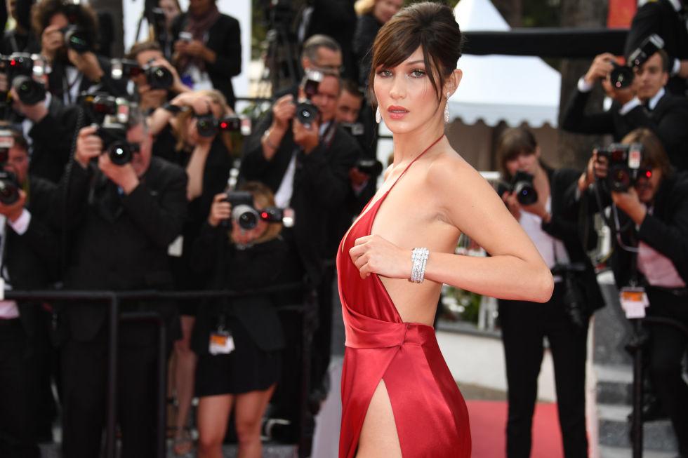 Bella Hadid Cannes Dress - Bella Hadid Wardrobe Malfunction Master