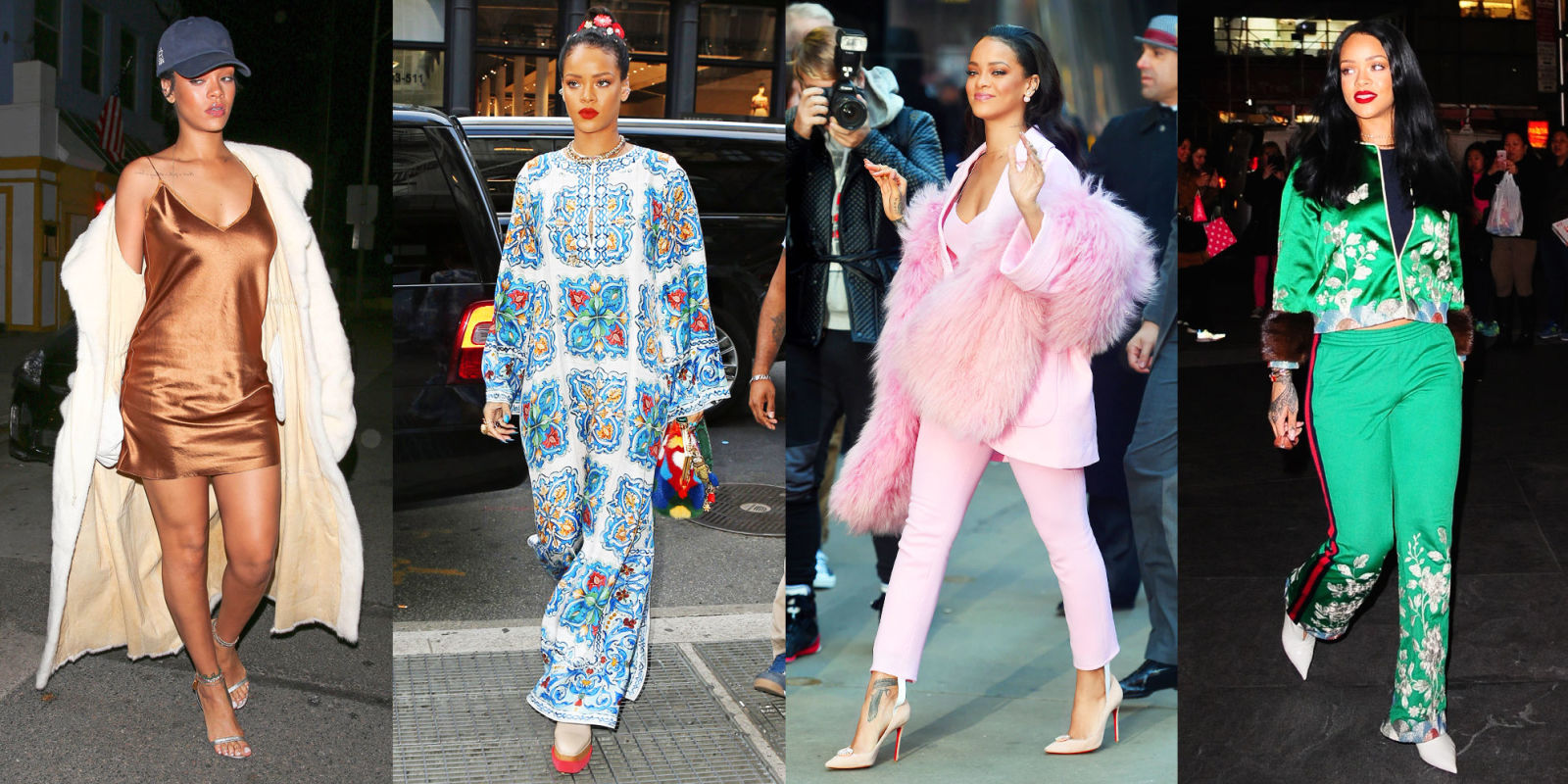 Rihanna In Sheer Raincoat Like Mini Dress In Santa Monica