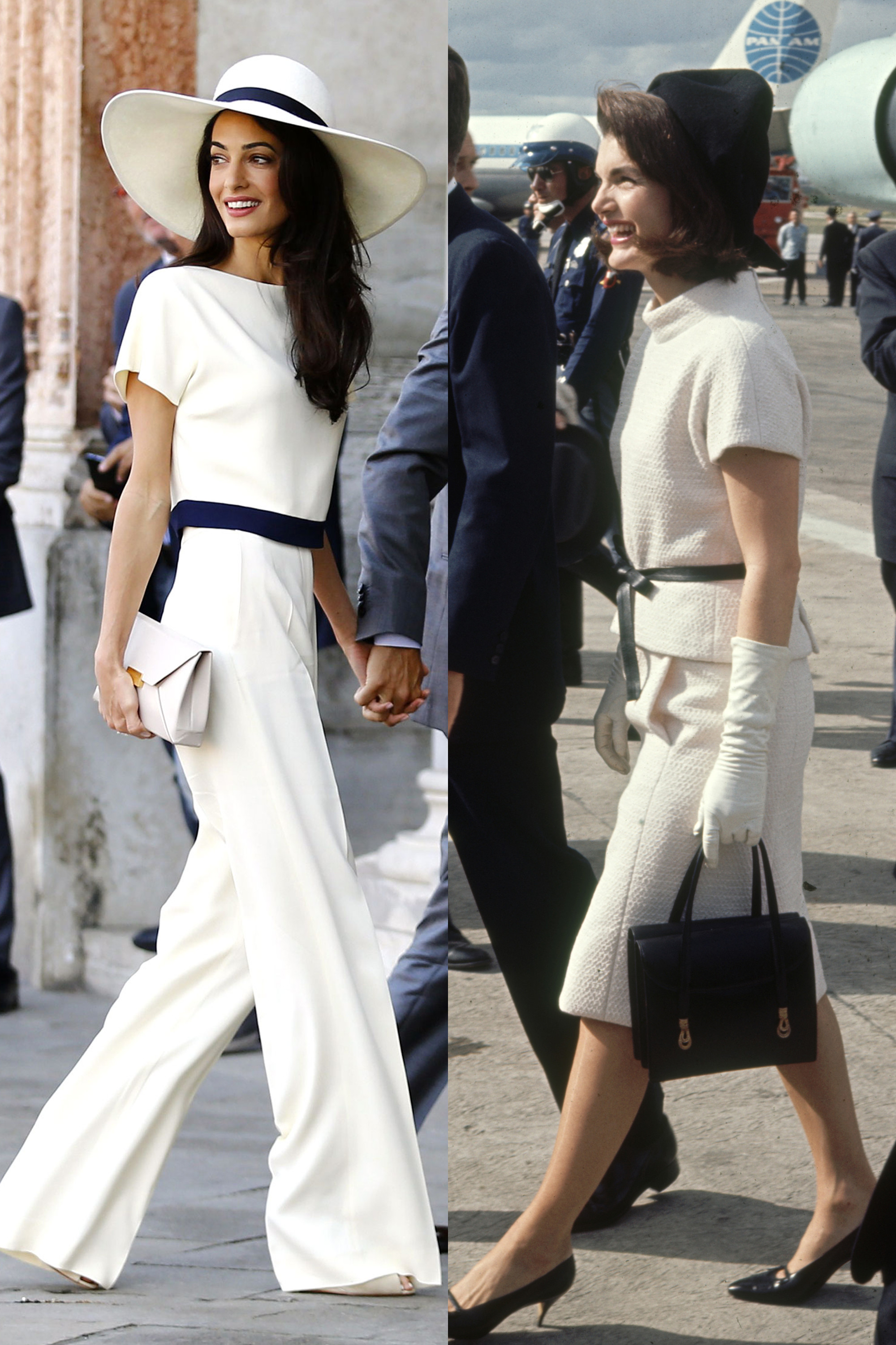 Jackie Kennedy Fashion: Amal Clooney And Jackie Kennedy Style Fashion Similarities