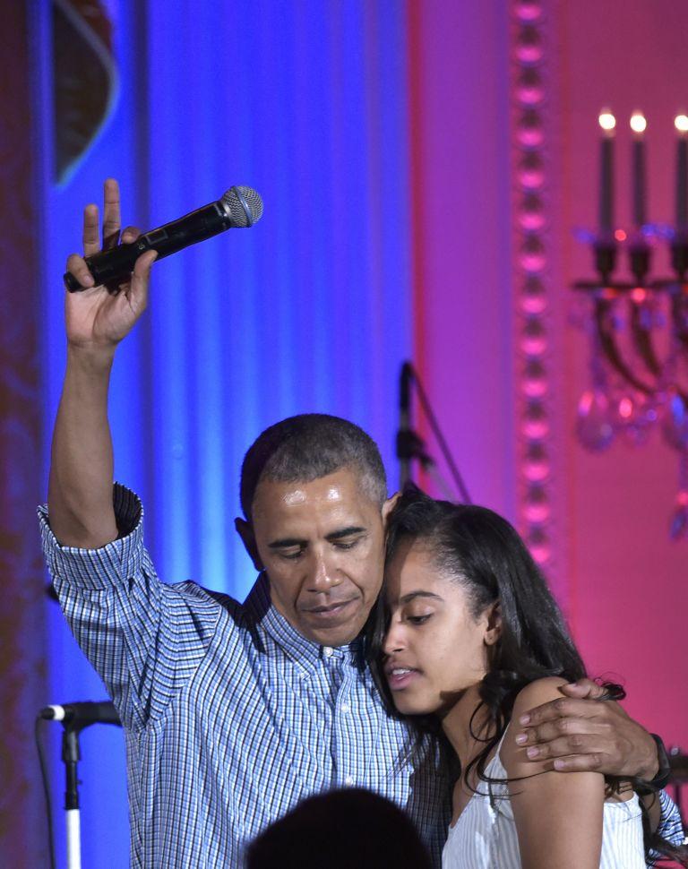 Malia Obama, President Obama