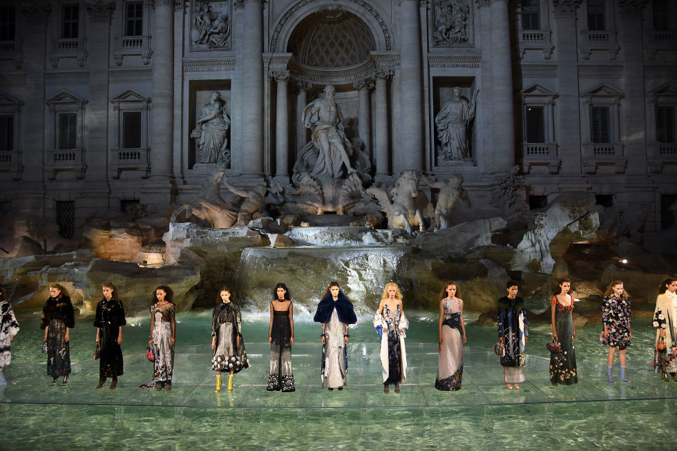 Fendi anniversary show: incredibly lovely
