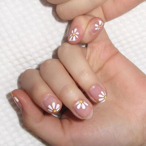 Nail Design Ideas For Short Nails nail design for short nails Negative Nails Dont Always Have To Be A Geometric Design Start With A