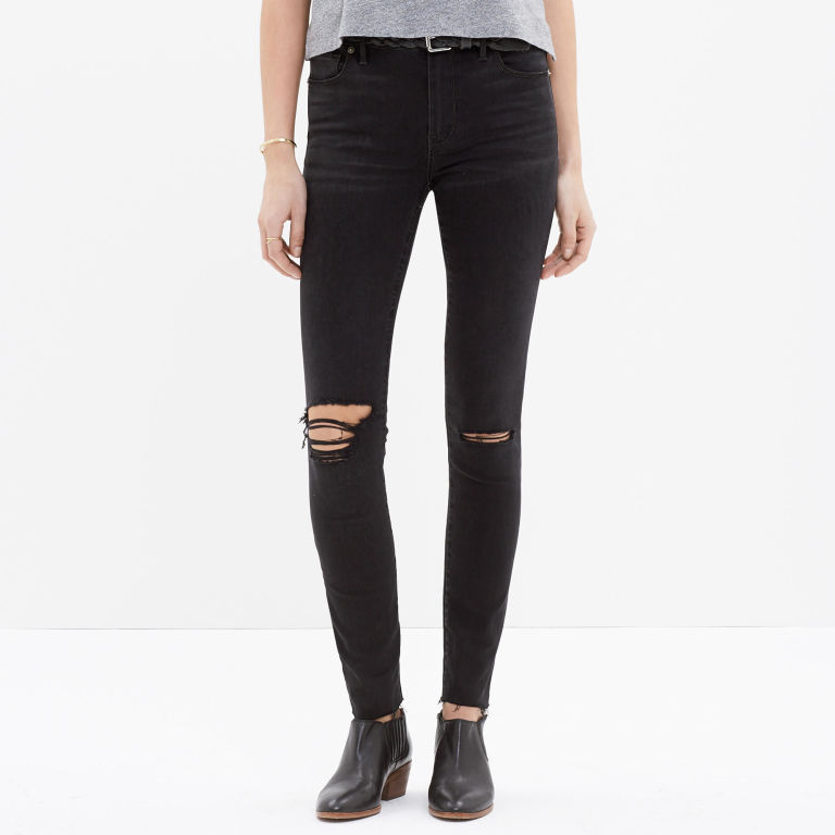 These Are the Best Distressed Black Skinny Jeans