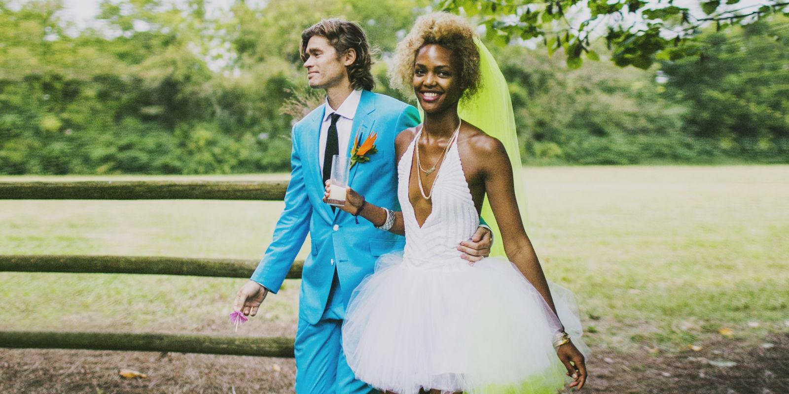 fashion personal style news neon wedding