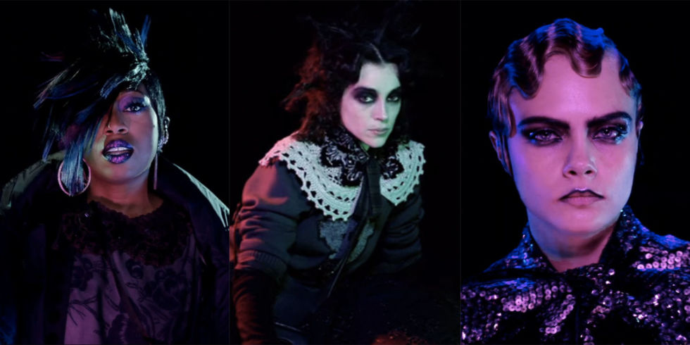 """Marc Jacobs' Fall Video Campaign Stars """"Beautiful Freaks"""" Missy Elliott, Cara Delevingne, and Marilyn Manson"""
