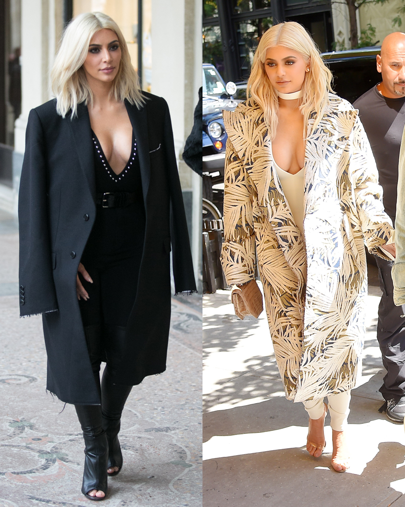 Kylie Jenner and Kim Kardashian Twin Moments - Photos of ...
