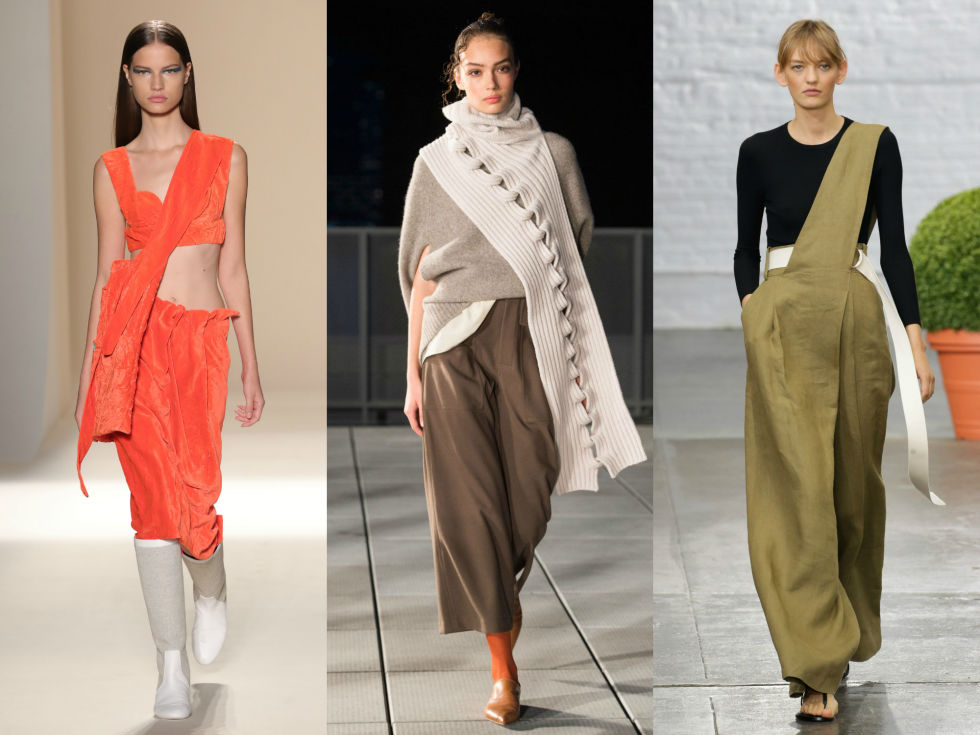 We promise you'll love this asymmetrical trend. Scouts honor. Right to Left: Victoria Beckham, Thakoon, Tibi