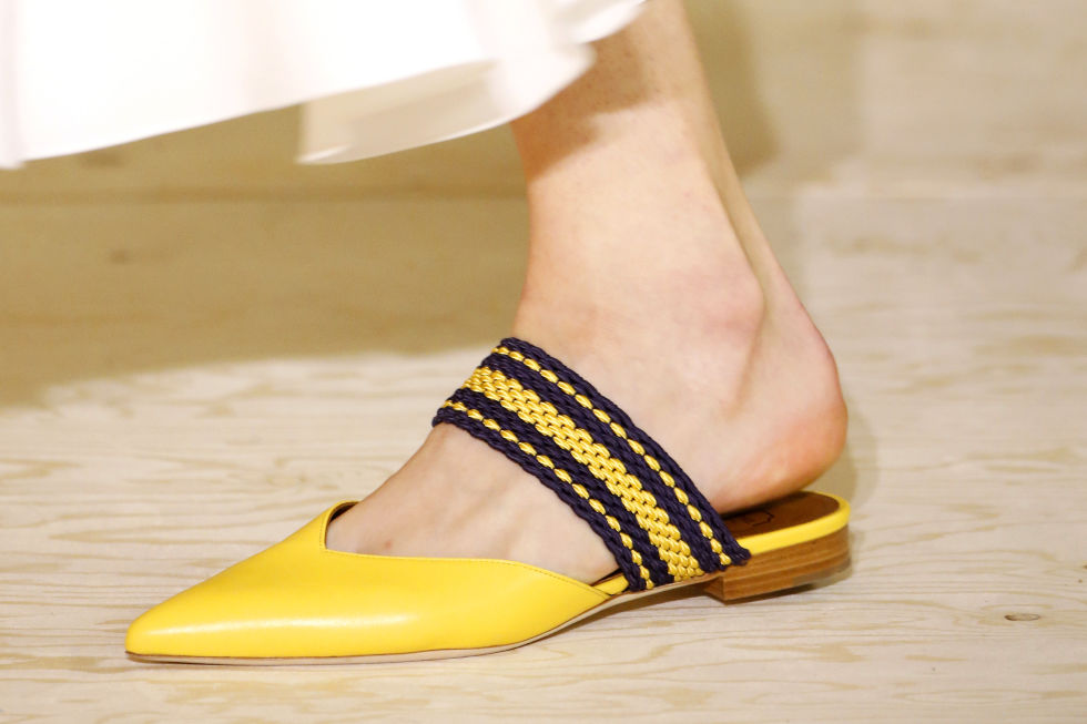 pointed toe loafer, loafer, yellow loafer