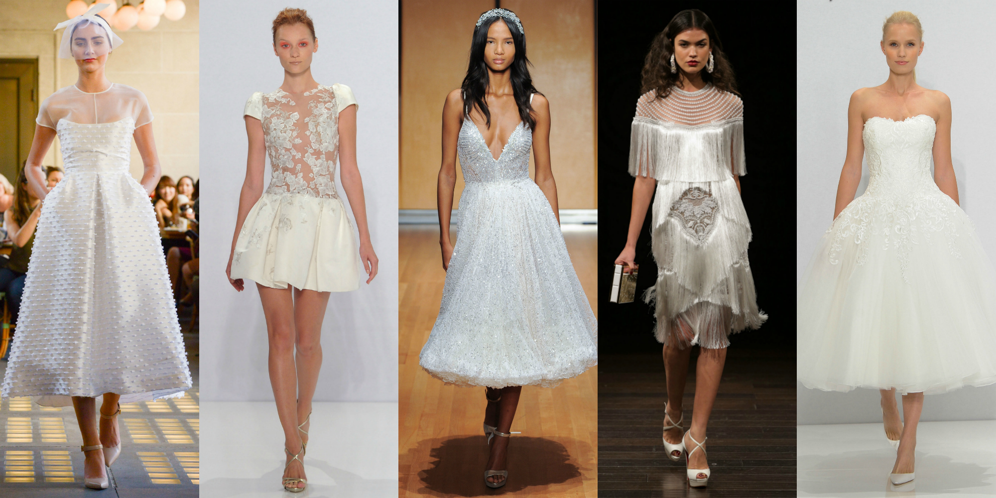 13 short wedding dresses for summer 13 designer short for Short spring wedding dresses