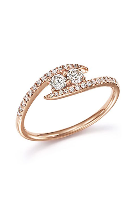 diamond wrap two stone ring 1400bloomingdalescom - Wedding Rings Gold