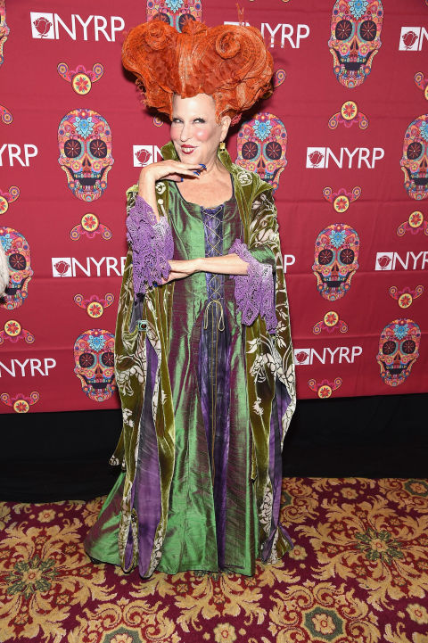 As Winifred Sanderson, her Hocus Pocus character.