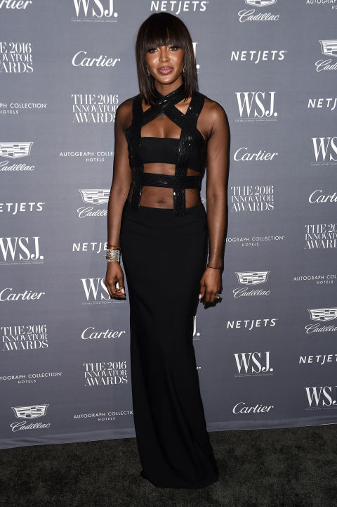 Who: Naomi Campbell  When: November 02, 2016 Why: This is what we expect Leeloo from The Fifth Element to wear to a black-tie gala, except this is better because it's supermodel Naomi Campbell. She stunned in Tom Ford at the WSJ Magazine 2016 Innovator Awards in New York City.