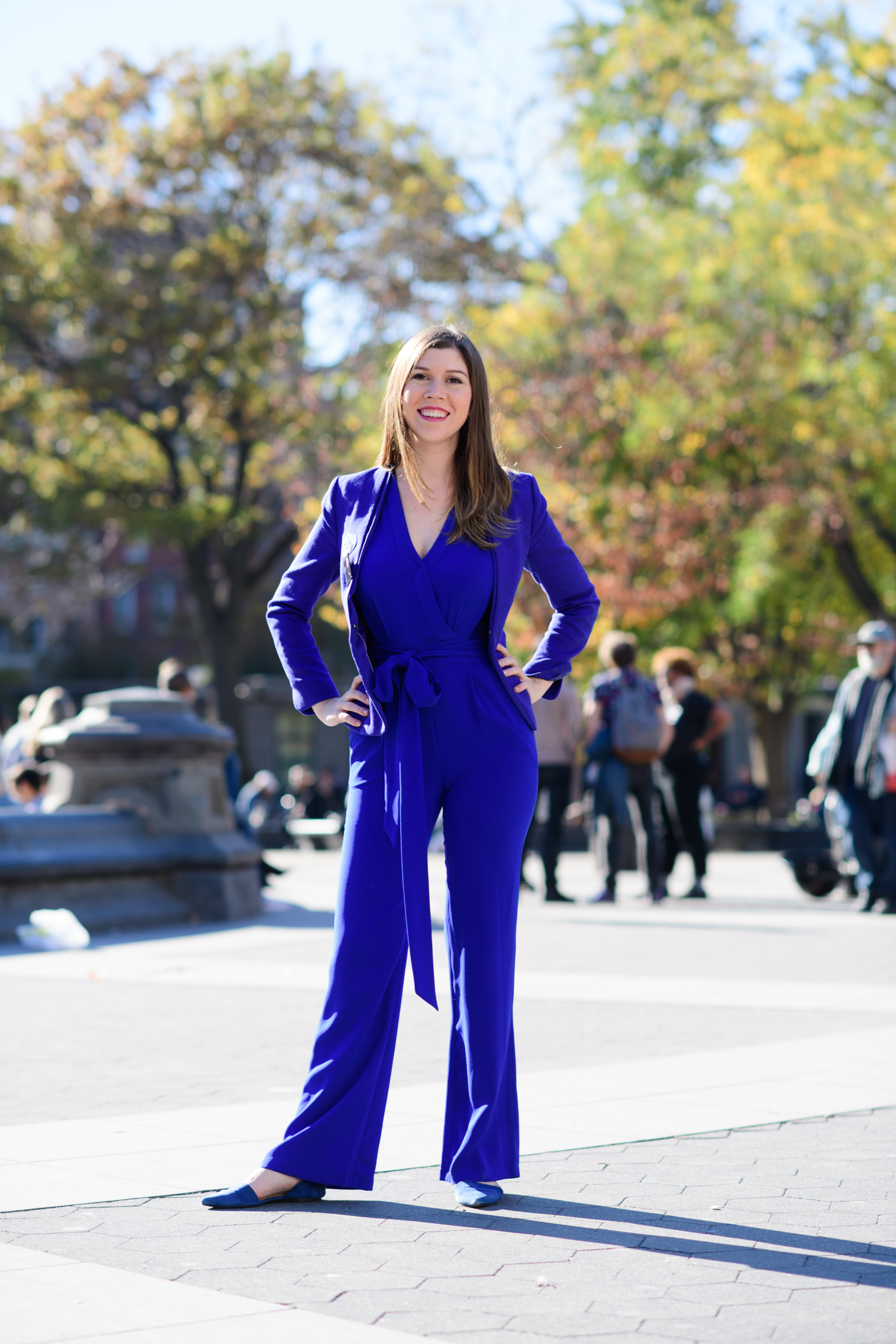 all across the nation women wore pantsuits to vote for hillary