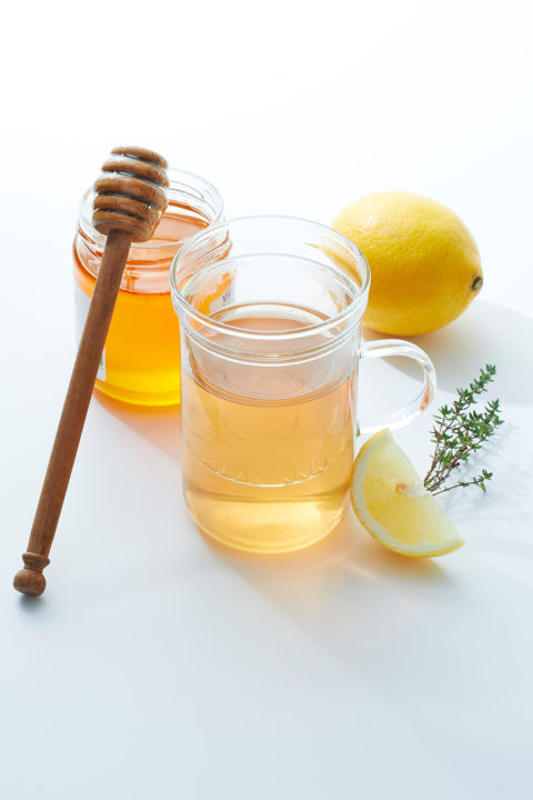 """I drink hot water mixed with fresh lemon, honey or maple syrup, which soothe throat irritation, a dash of cayenne pepper to open up nasal and sinus congestion, and a splash of bourbon, which suppresses cough.""– Dr. Ginevra Liptan, internist in Portland, Oregon"