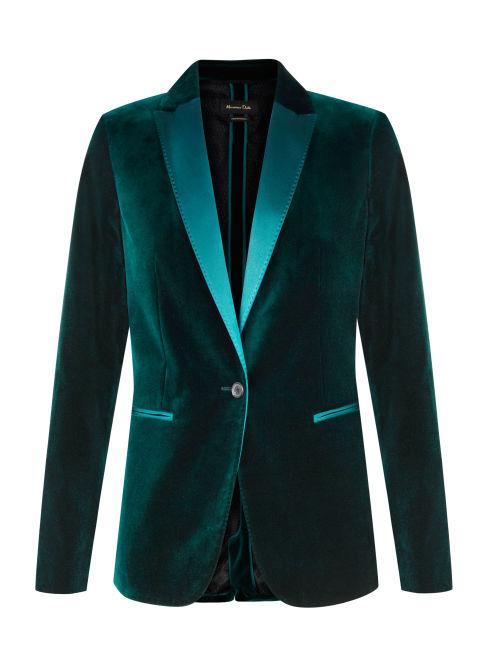 Massimo Dutti Velvet Blazer, $225; massimodutti.com