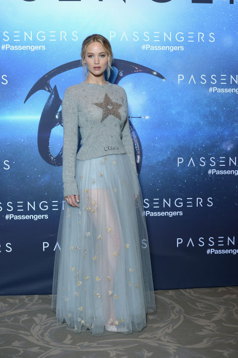 In Christian Dior at the Passengers photo call in Paris.