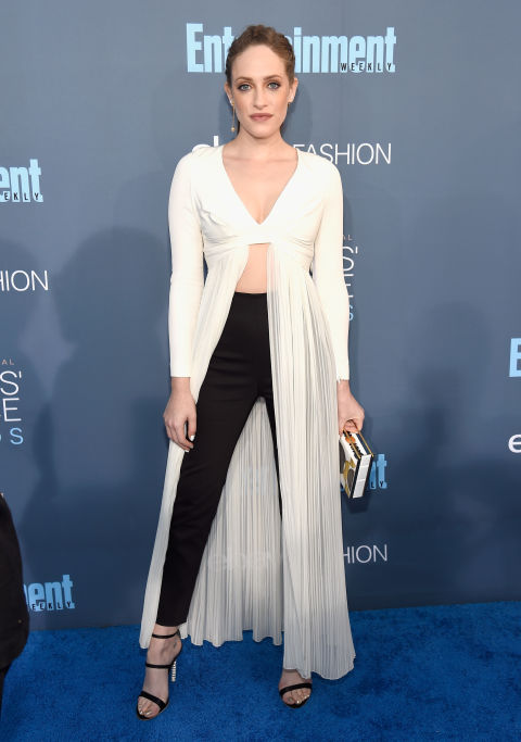 In Thakoon top and pants with Sophia Webster heels, Naeem Khan clutch and Tasaki earrings.