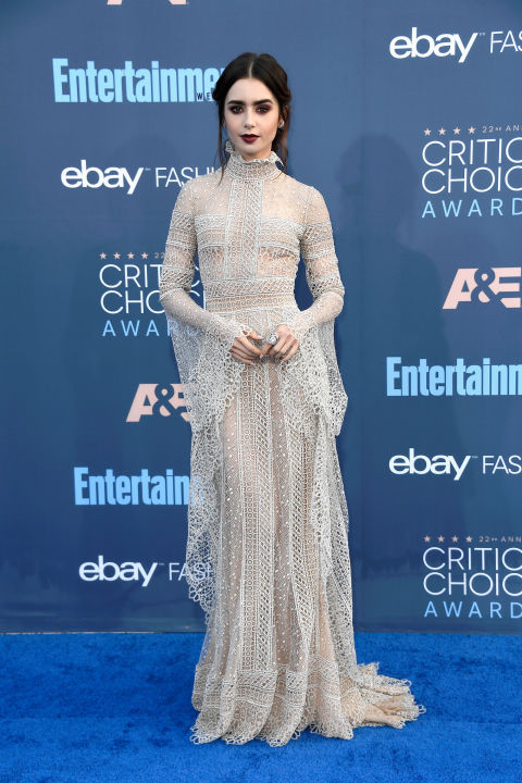 In Elie Saab dress, Giuseppe Zanotti heels and Chanel jewelry.