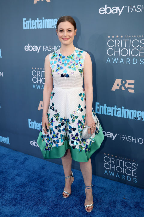 In Delpozo dress, Sophia Webster heels and Irene Neuwirth jewelry.