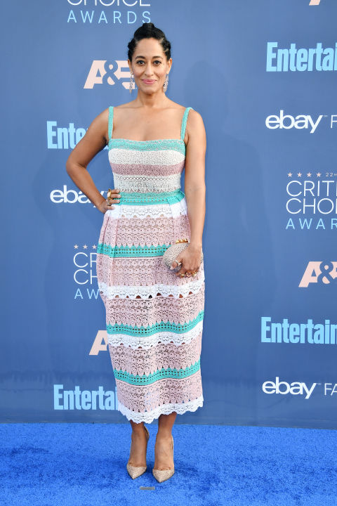In Zuhair Murad dress with Christian Louboutin heels and clutch, Hueb earrings and Le Vian rings.
