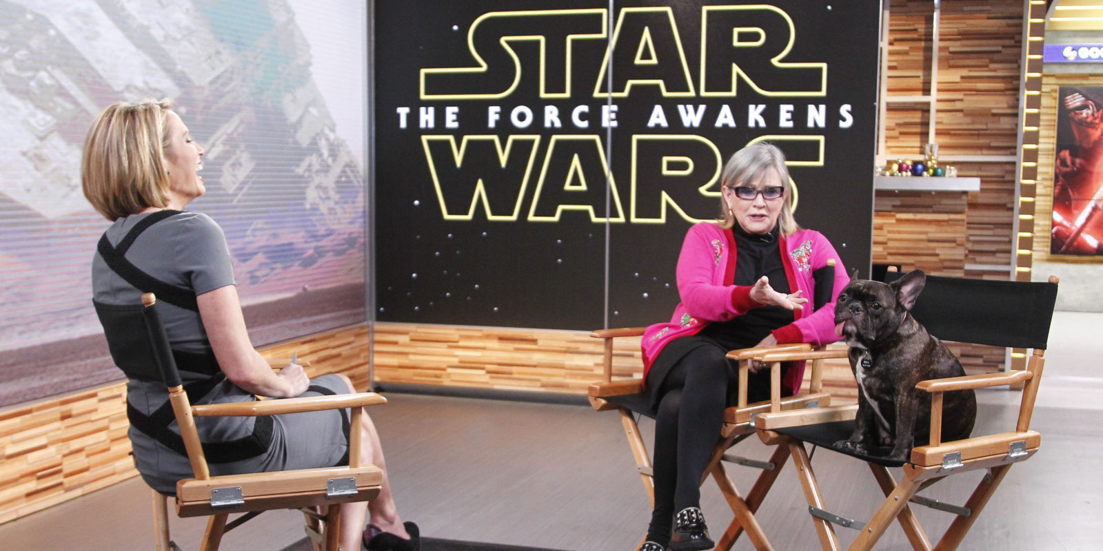 Good Morning America Intruder Interview : Carrie fisher s hilarious good morning america interview