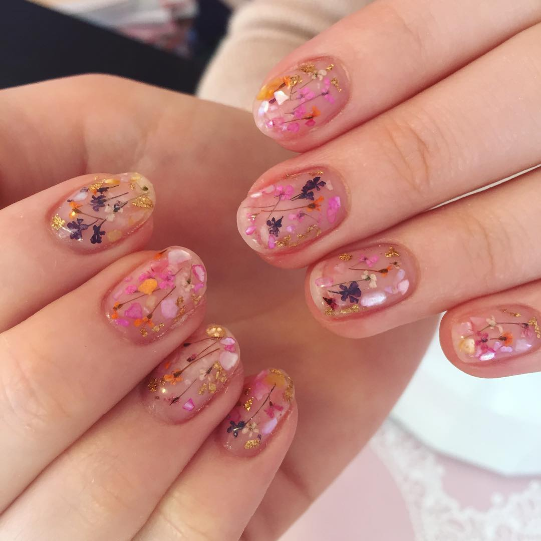 Floral Manicures For Spring And: 11 Spring Nail Art Designs