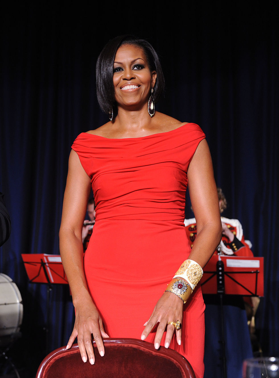 Michelle Obama at the White House Correspondents' Dinner.
