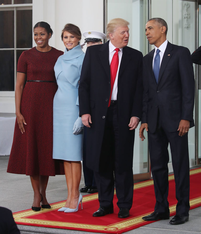 Michelle Obama Wears Red Dress to the Inauguration - Michelle ...