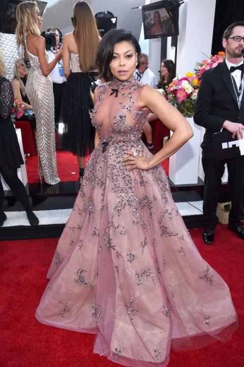 Taraji P. Hensons Naked Princess Dress at the SAG Awards