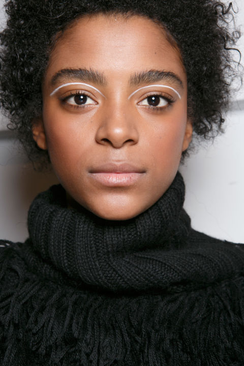 The vibe: Simplicity Get the look: Floating white eyeliner was a modern touch highlighting models' natural beauty.
