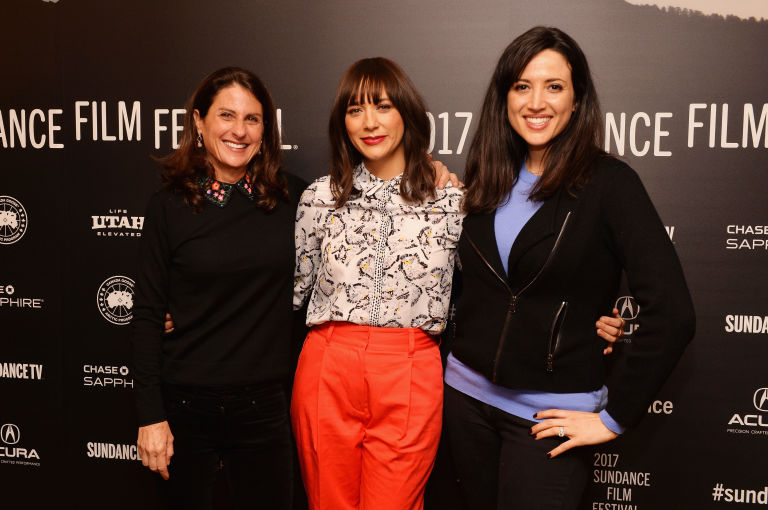 Jill Bauer, Rashida Jones, and Ronna Gradus at the Sundance Film Festival
