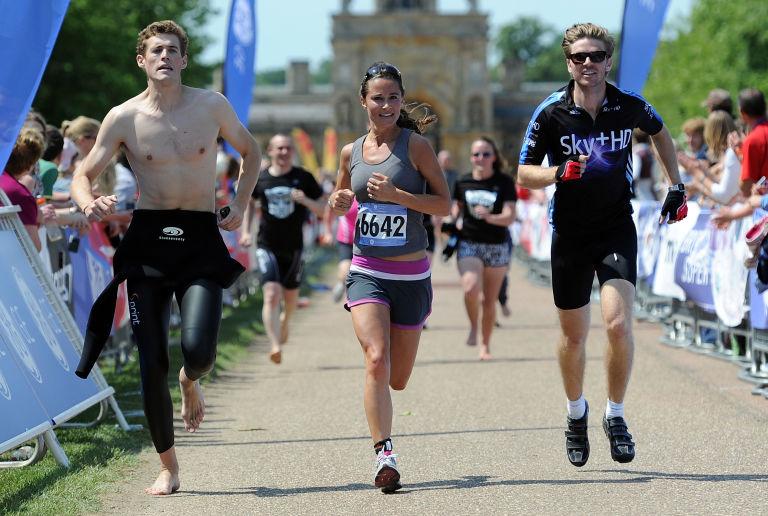 pippa running in the blenheim triathlon in 2011