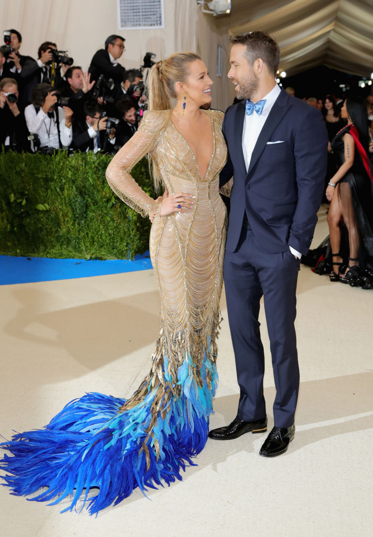 Image result for blake lively and ryan reynolds met gala 2017