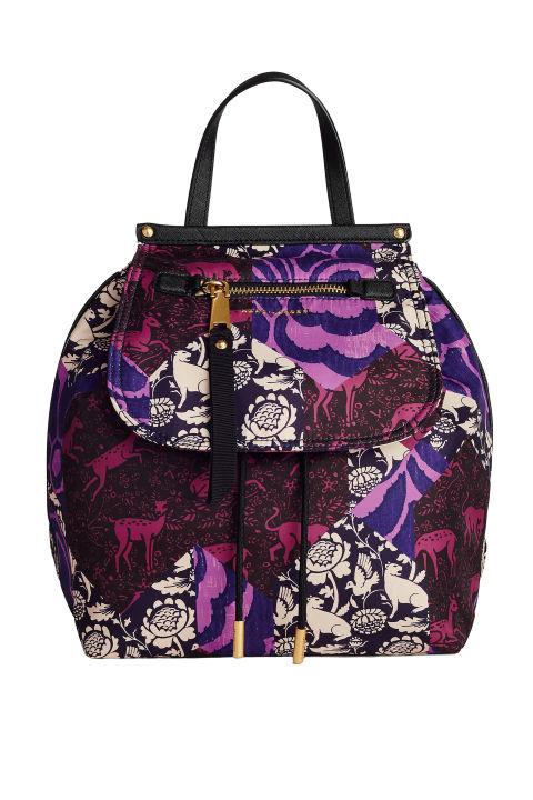 designer backpacks adul  Marc Jacobs Tapestry Printed Trooper Backpack, $295; marcjacobscom