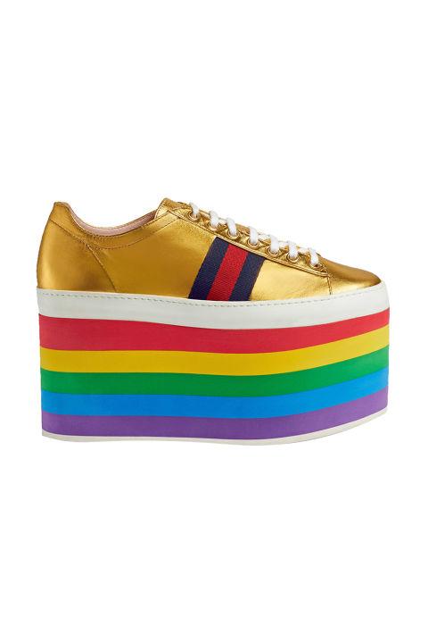 Gucci Leather Low-Top Platform Sneaker, $950; gucci.com