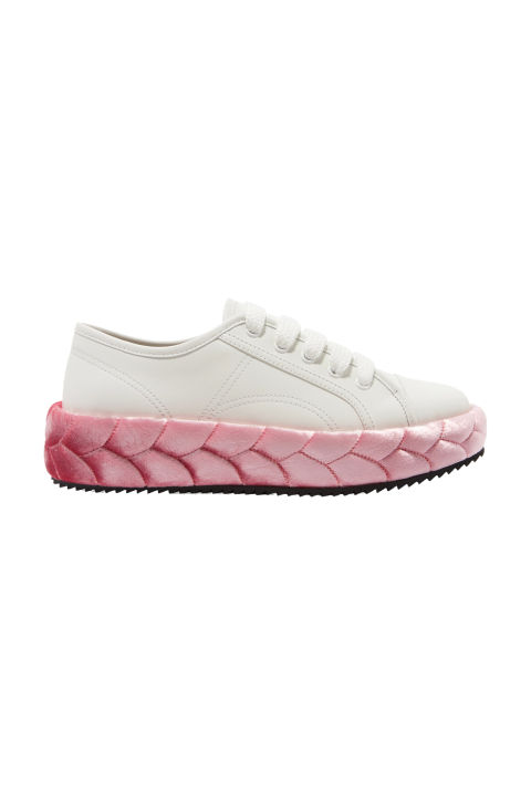 Marco de Vincenzo Leather and Quilted Velvet Sneakers, $900; net-a-porter.com
