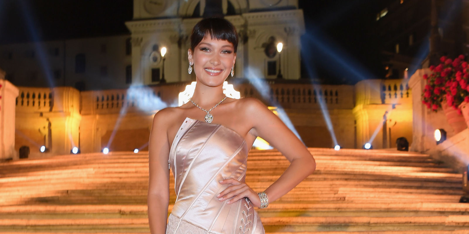 Bella Hadid Has an Audrey Hepburn Moment in Rome, With a '90s Twist