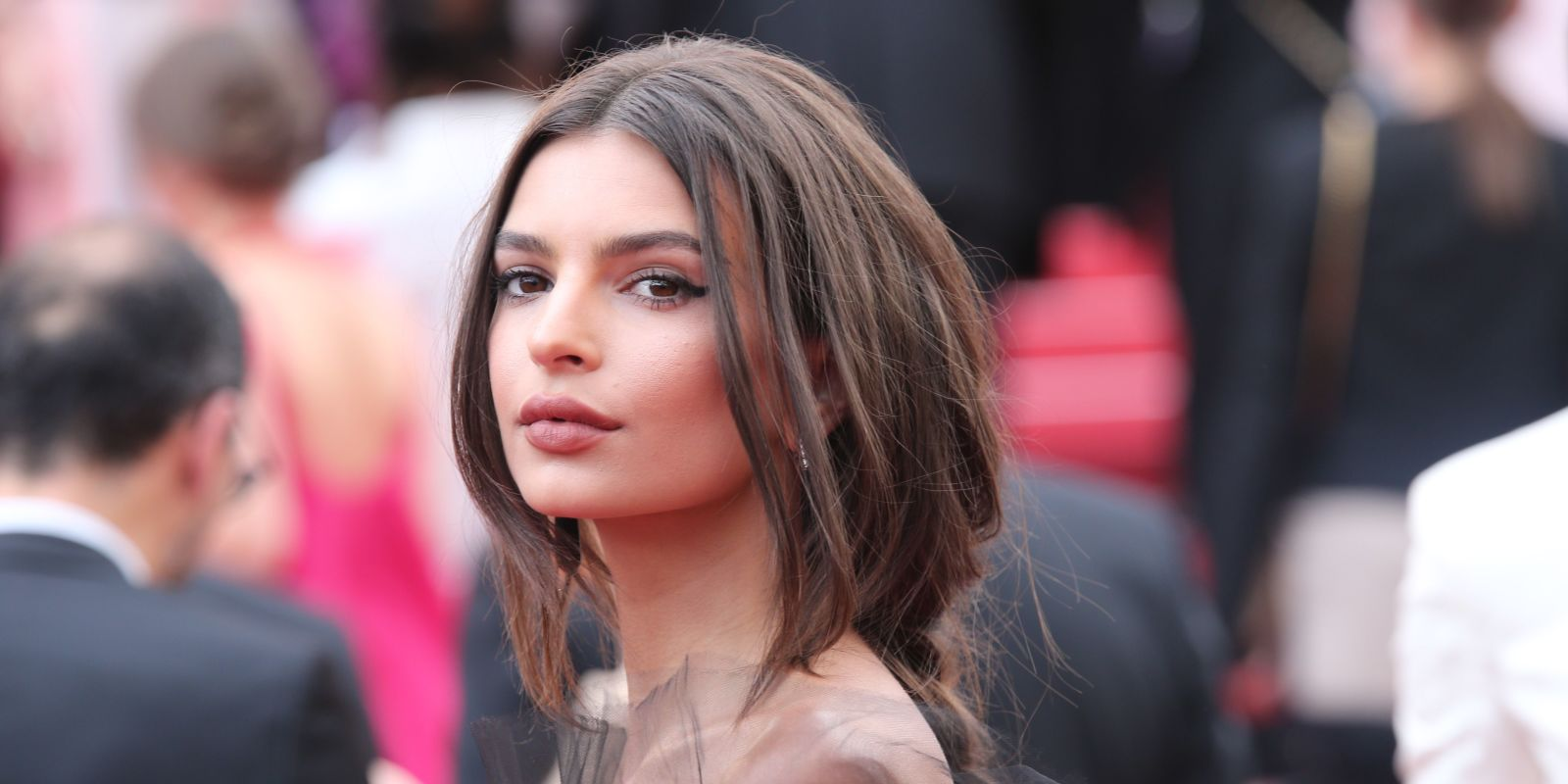 Apparently Emily Ratajkowski Was Sewing Her Cannes Dress in the Car