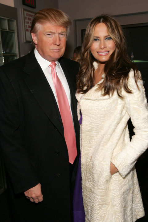 Donald and Melania Trump attend the American Ballet Theatre premiere of 'Cake' at the Joyce Theater on May 1, 2008 in New York City