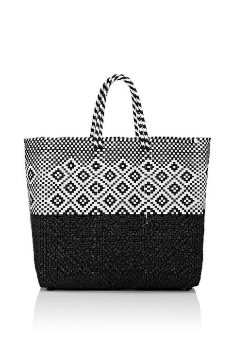 Marry practicality and style with a woven tote you can take seaside and out afterwards as well. Truss Woven Medium Tote Bag, $180; barneys.com