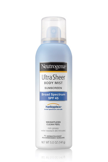 SPF is a must, but sticky, goopy hands aren't. A lightweight spray gets the job done with minimal dry time. Neutrogena Ultra Sheer Body Mist Sunscreen SPF 45, $10; neutrogena.com