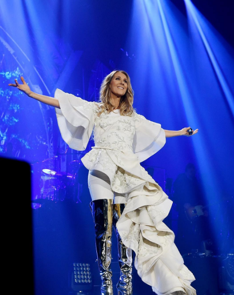 At the opening night of her Celine Dion Live 2017 tour at Royal Arena in Copenhagen.
