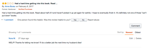 Ask Nora amazon review