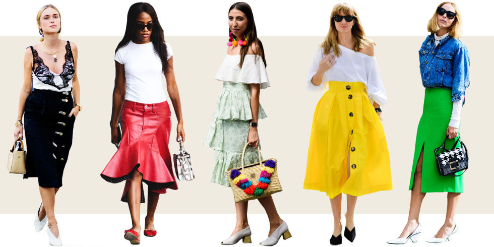 10 Midi Skirt Styles for Spring 2016 - Ways to Wear a Midi Skirt